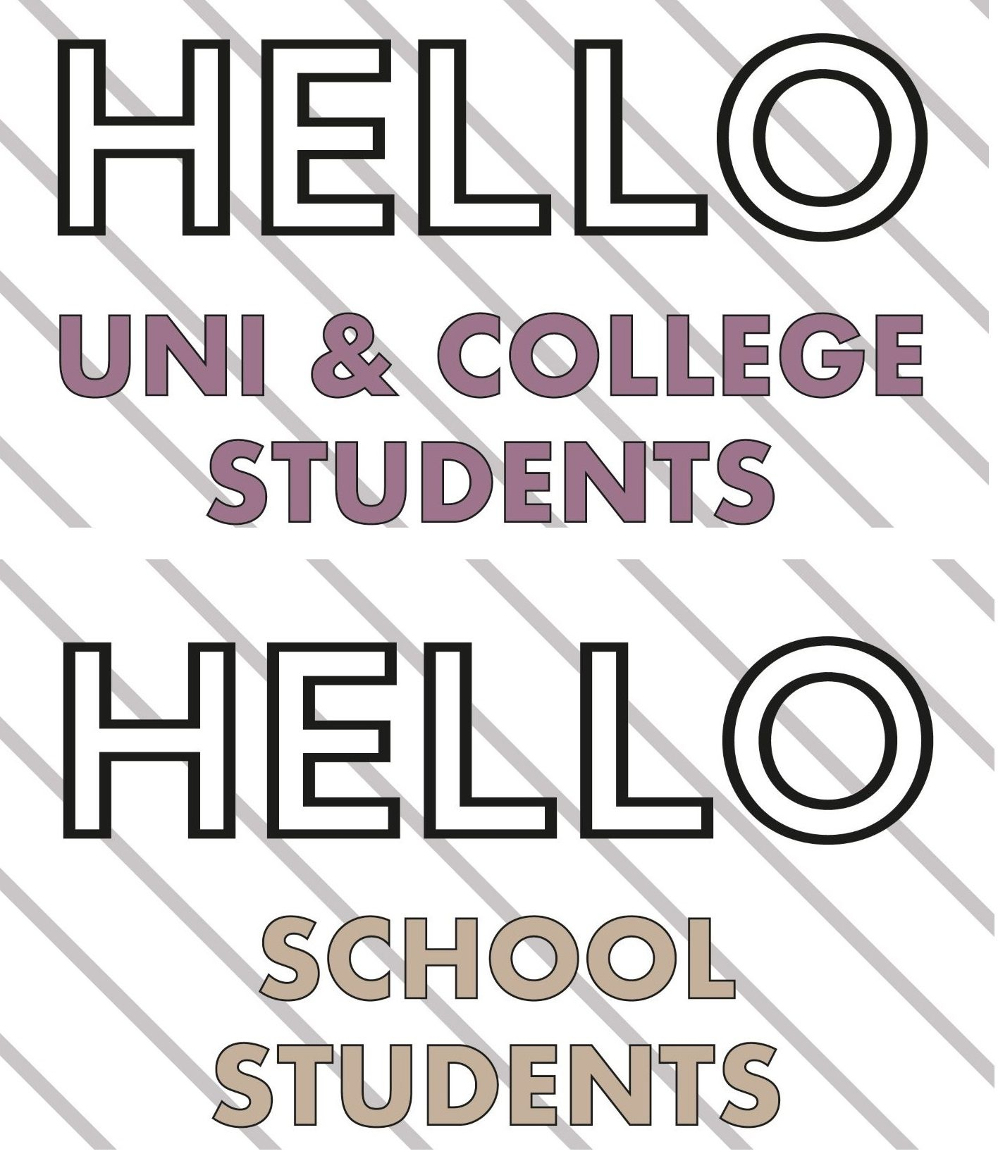 Welcome Fashion Students School College University