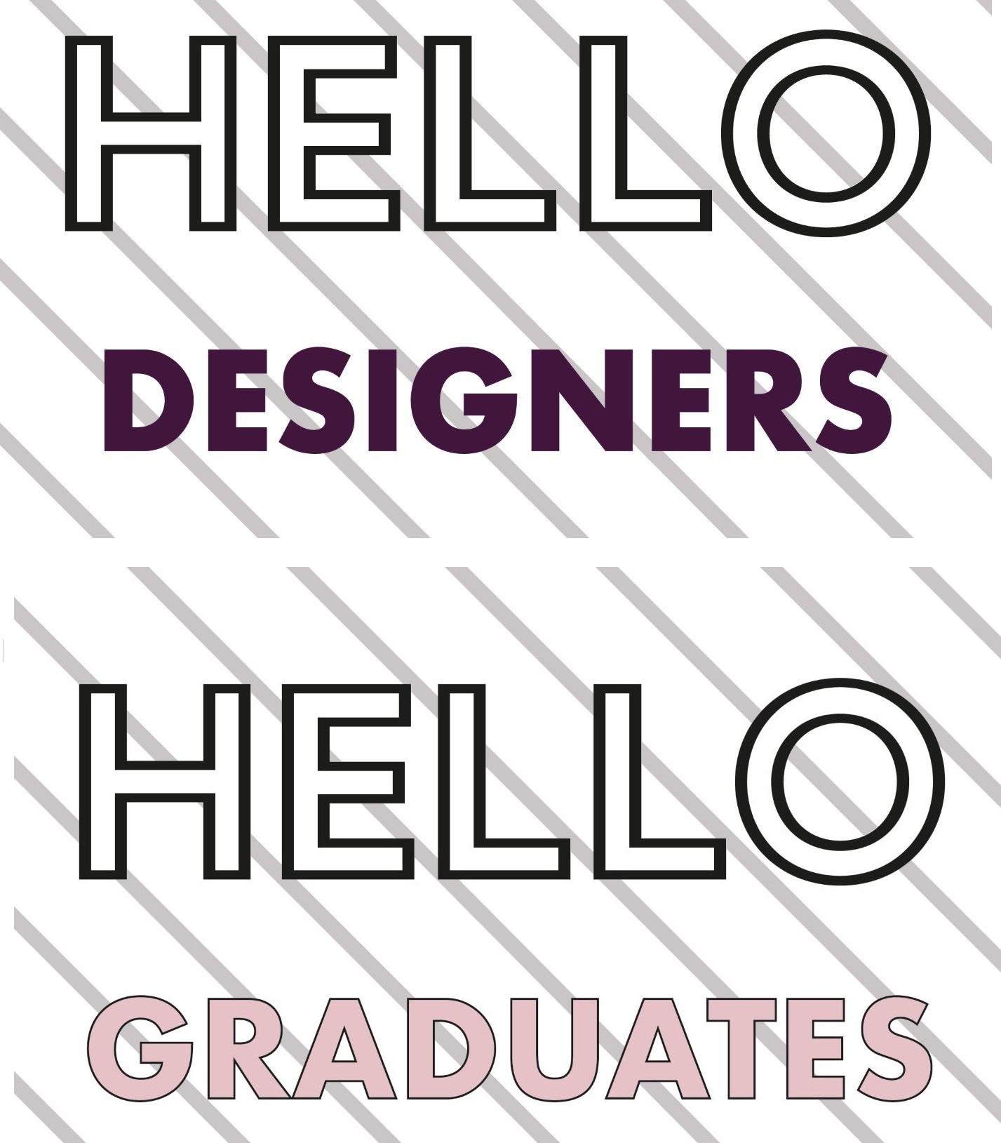 Welcome Fashion Designers Graduates