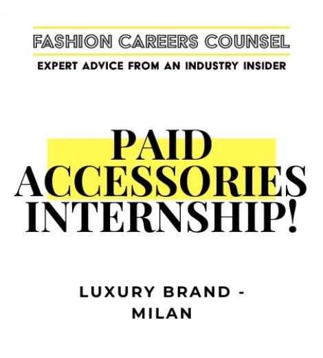LEATHER GOODS DESIGN INTERNSHIP – MILAN